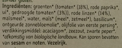 Tomato and red lentil burger - Ingrediënten - nl