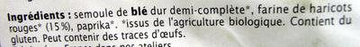 Spirales aux Haricots rouges - Ingredienti - fr