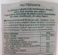 Mix Pâtisserie Bio - 500 G - Ma Vie Sans Gluten - Ingrédients