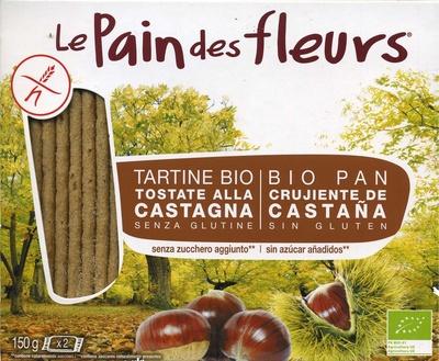 """Tostadas ecológicas """"Le Pain des Fleurs"""" Castañas - Producte"""