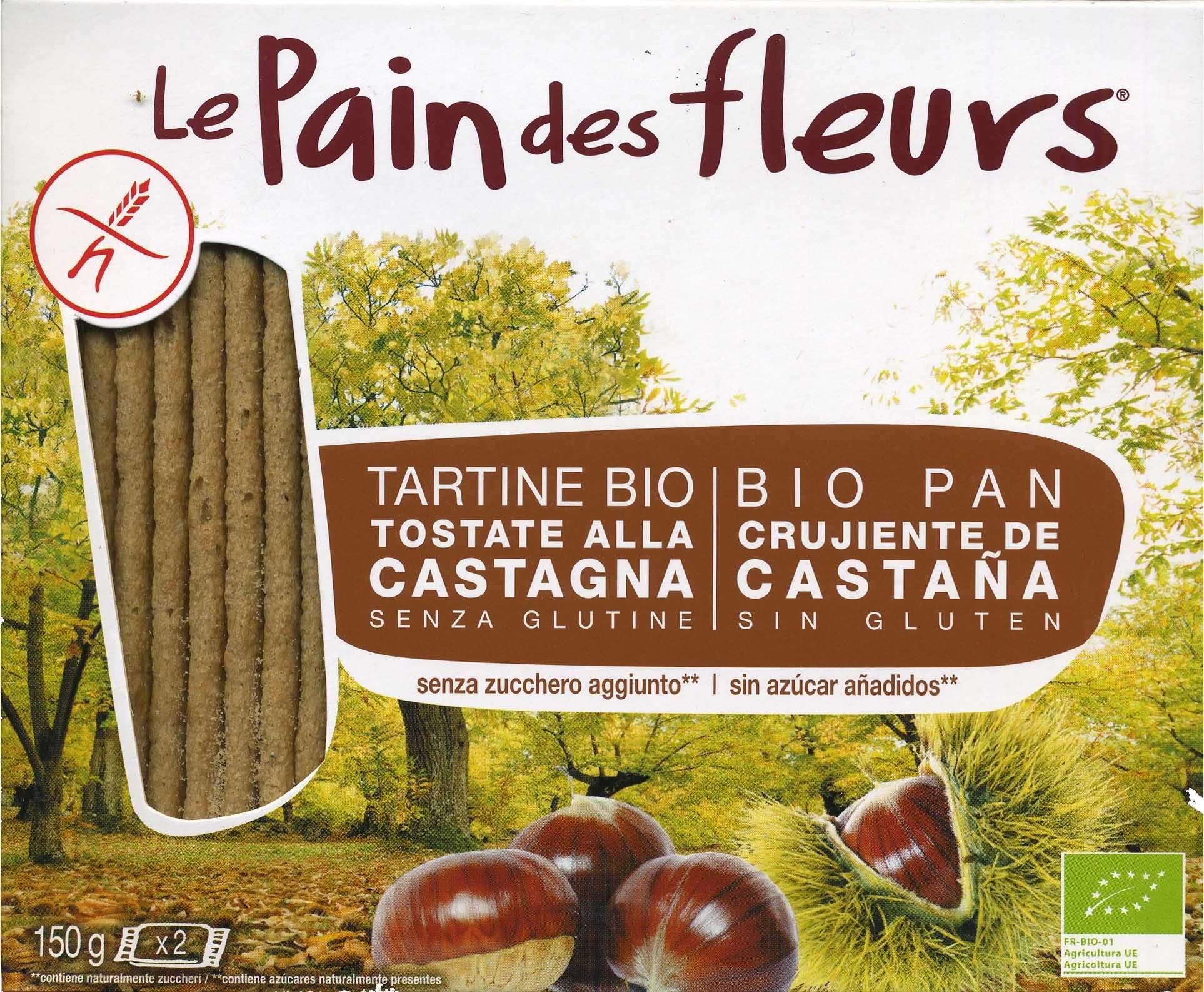 "Tostadas ecológicas ""Le Pain des Fleurs"" Castañas - Producto"