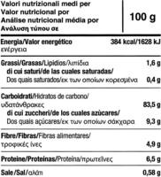 """Tostadas ecológicas """"Le Pain des Fleurs"""" Castañas - Información nutricional"""