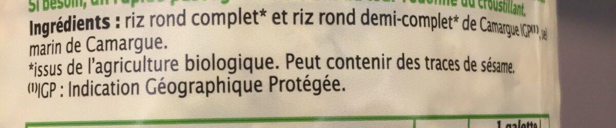 Galettes de riz de camargue - Ingrédients - fr