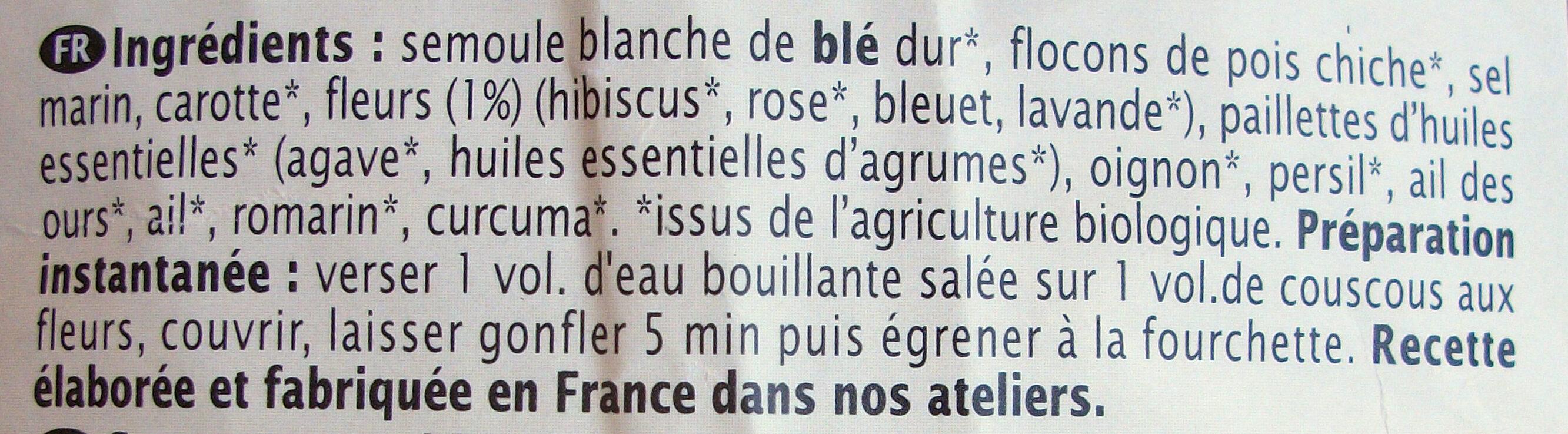 Couscous aux fleurs - Ingrédients - fr