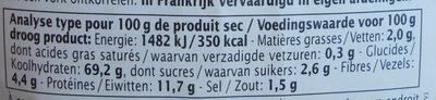 Couscous aux fleurs - Informations nutritionnelles - fr