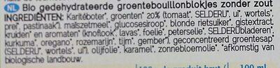 Bouillon bio de légumes sans sel - Ingrediënten
