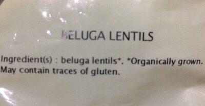 Lentilles Beluga - Ingredients - fr