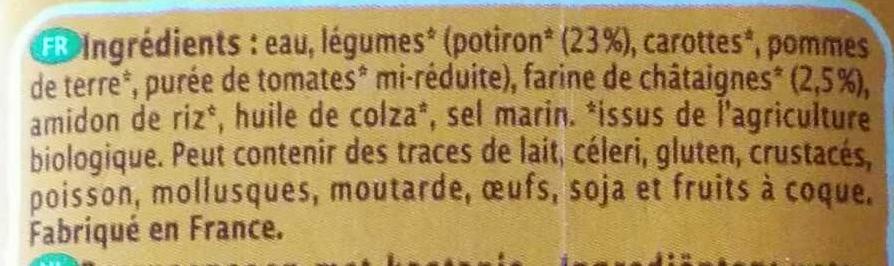 Velouté Potiron & Châtaigne - Ingrediënten