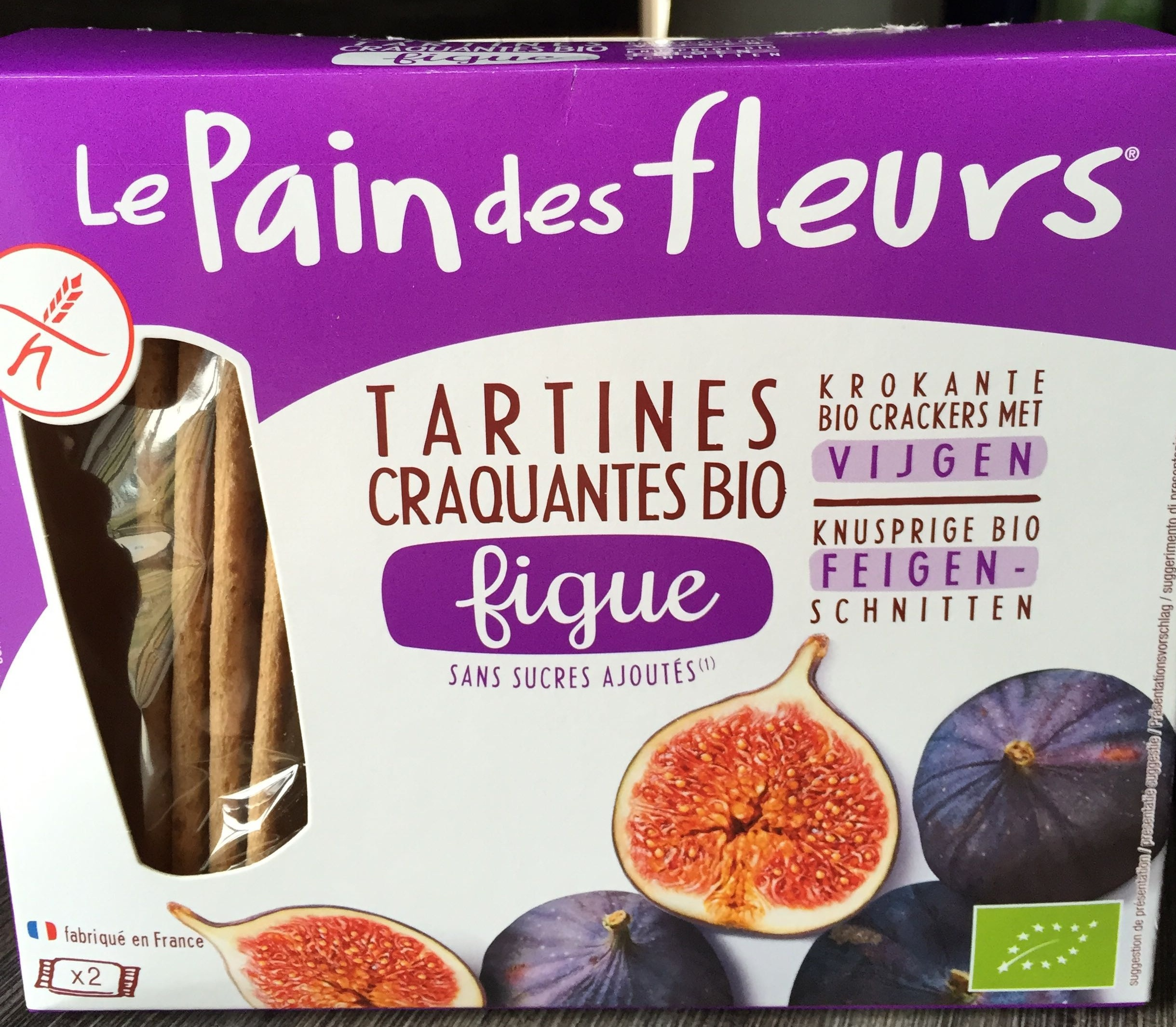 Tartines craquantes bio figue - Product - fr