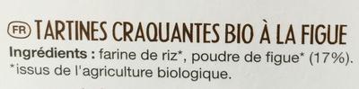 Tartines craquantes bio figue - Ингредиенты - fr