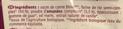 Vite, un clafoutis à la farine de riz - Ingredients - fr