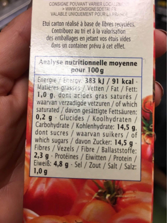 Double Concentre De Tomates - Informations nutritionnelles