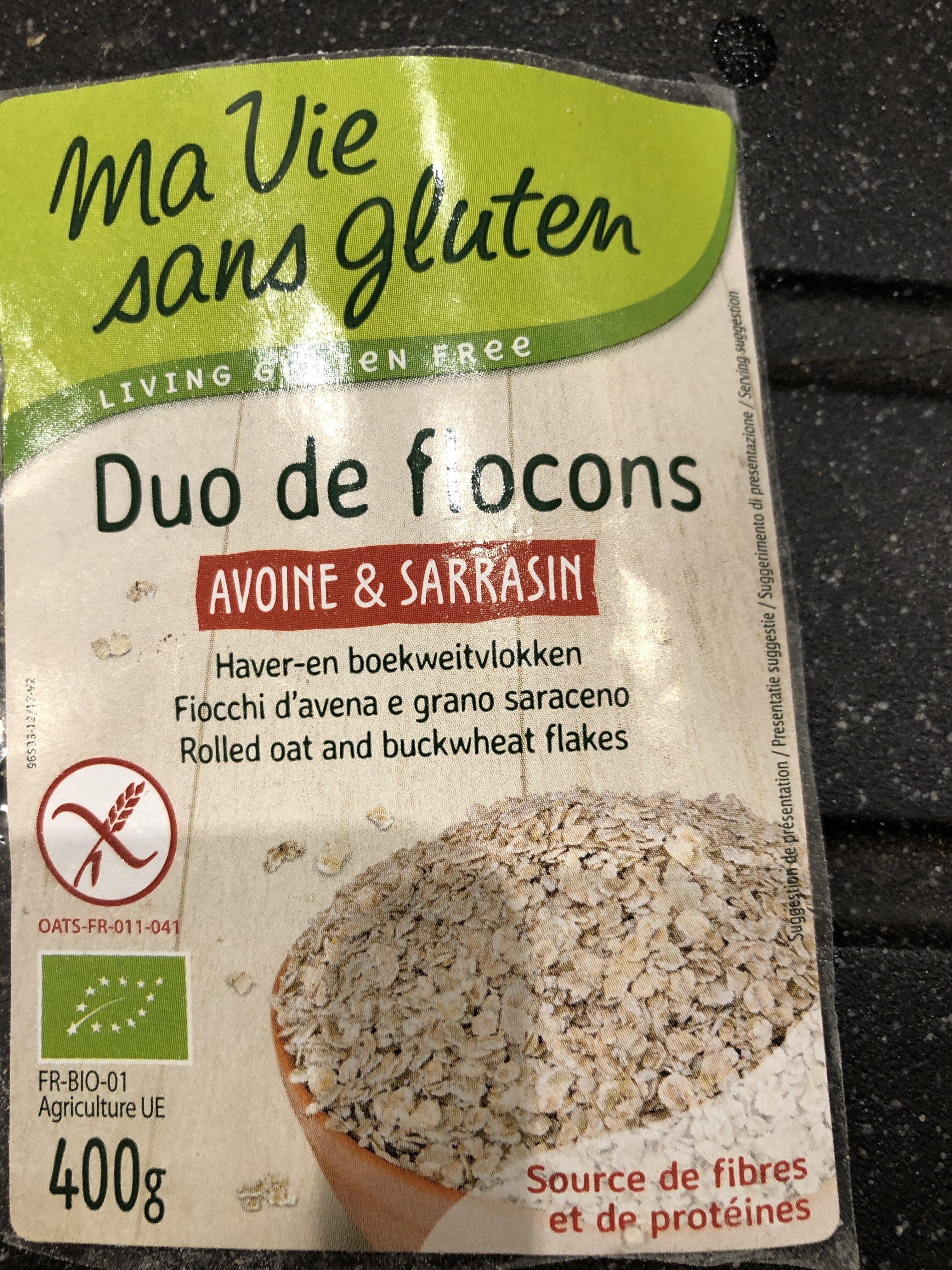 Duo De Flocons Avoine & Sarrasin Bio - 400 G - Ma Vie Sans Gluten - Produit