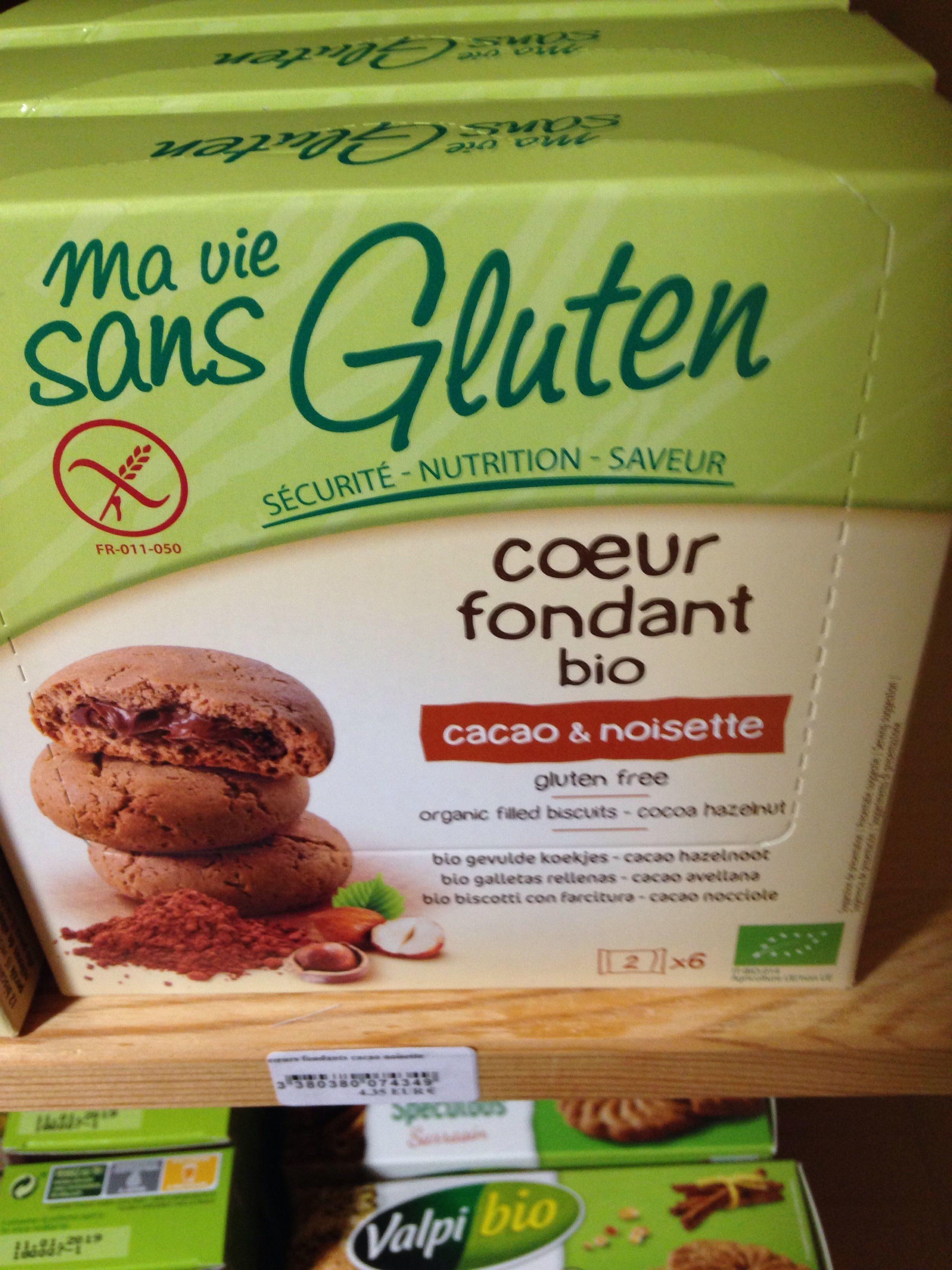 Coeur Fondant Cacao Noisette Bio - 200 G - Ma Vie Sans Gluten - Produit