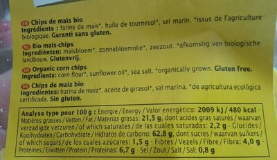 Tortillas nature - Informations nutritionnelles - fr