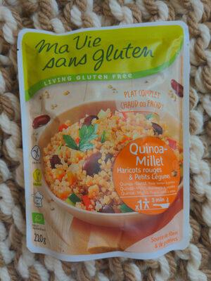 Quinoa-millet Haricots Rouges Et Petits Légumes Bio - 220 G - Ma Vie Sans Gluten - Product - fr