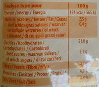 Quinoa-millet Haricots Rouges Et Petits Légumes Bio - 220 G - Ma Vie Sans Gluten - Nutrition facts - fr