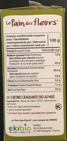 Tartines Craquantes Maïs-riz Bio - 150 G - Le Pain Des Fleurs - Nutrition facts