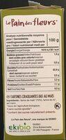 Tartines Craquantes Maïs-riz Bio - 150 G - Le Pain Des Fleurs - Valori nutrizionali - fr