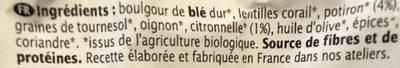 Boulgour Potiron et Citronnelle - Ingrediënten - fr