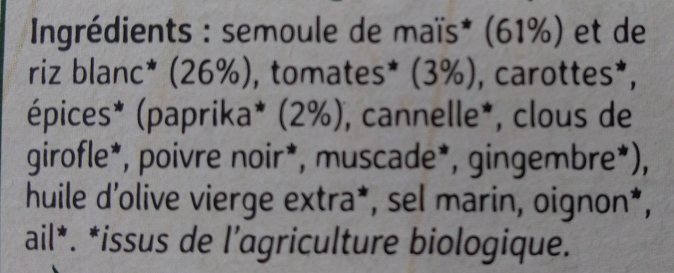 Couscous du Soleil - Ingredients - fr