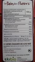 Tartines Bio Craquantes Au Riz Noir - Voedingswaarden - fr