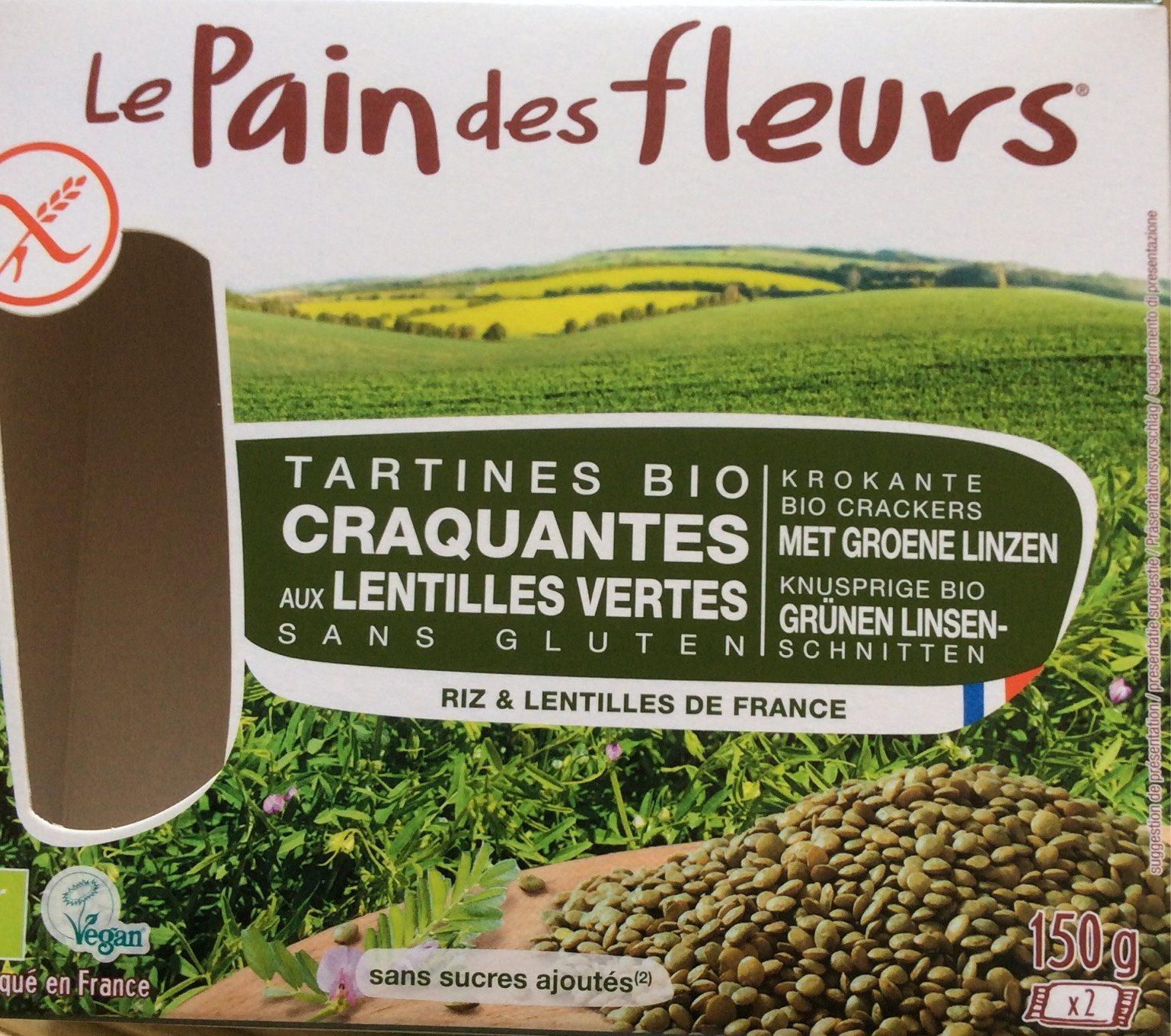 Tartines Bio craquantes aux lentilles vertes - Produit - fr