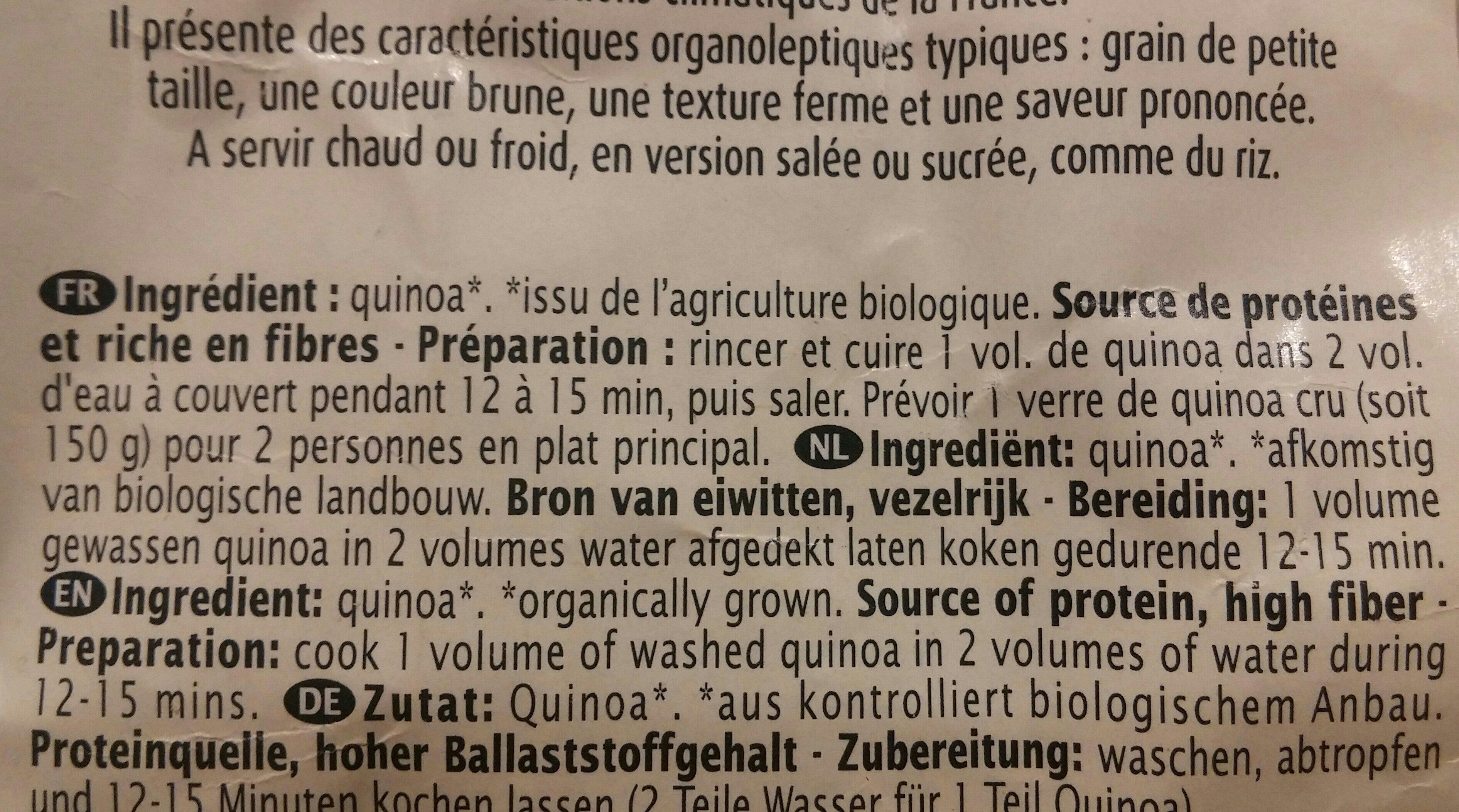 Quinoa France - Ingrédients