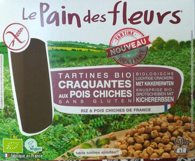 Tartines Bio craquantes aux pois chiches sans gluten - Produit - fr
