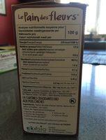 Tartines Bio craquantes aux pois chiches sans gluten - Informations nutritionnelles - fr