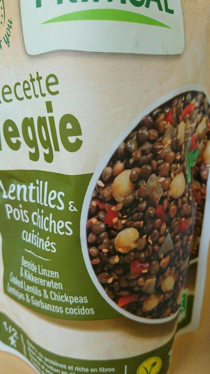 Lentilles et pois chiches cuisinés Vegan - Produit