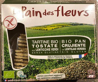 Tartine bio lentilles vertes - Produit