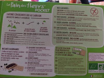 tartines bio craquantes au sarrasin sans gluten - Product