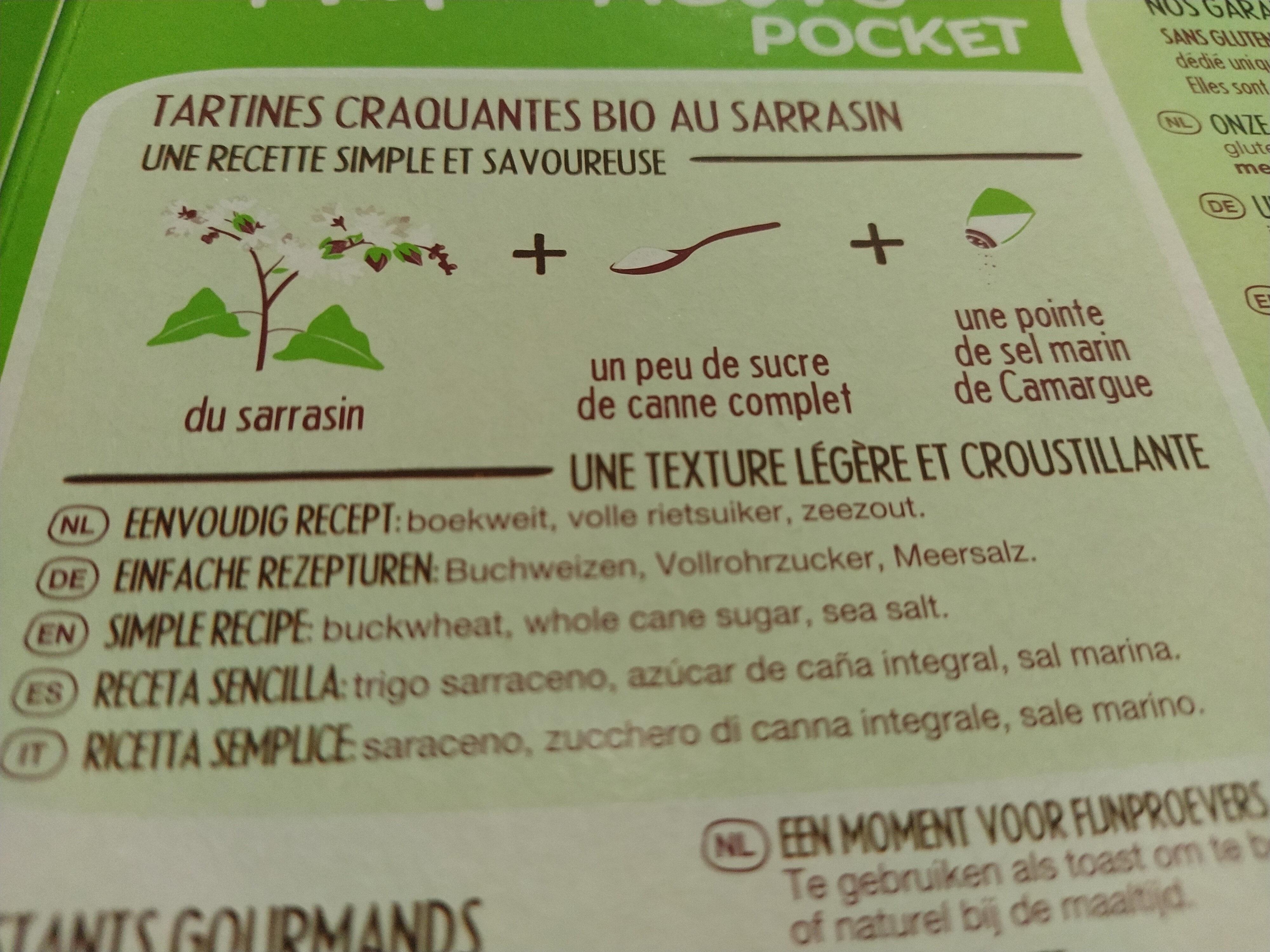 tartines bio craquantes au sarrasin sans gluten - Ingredients