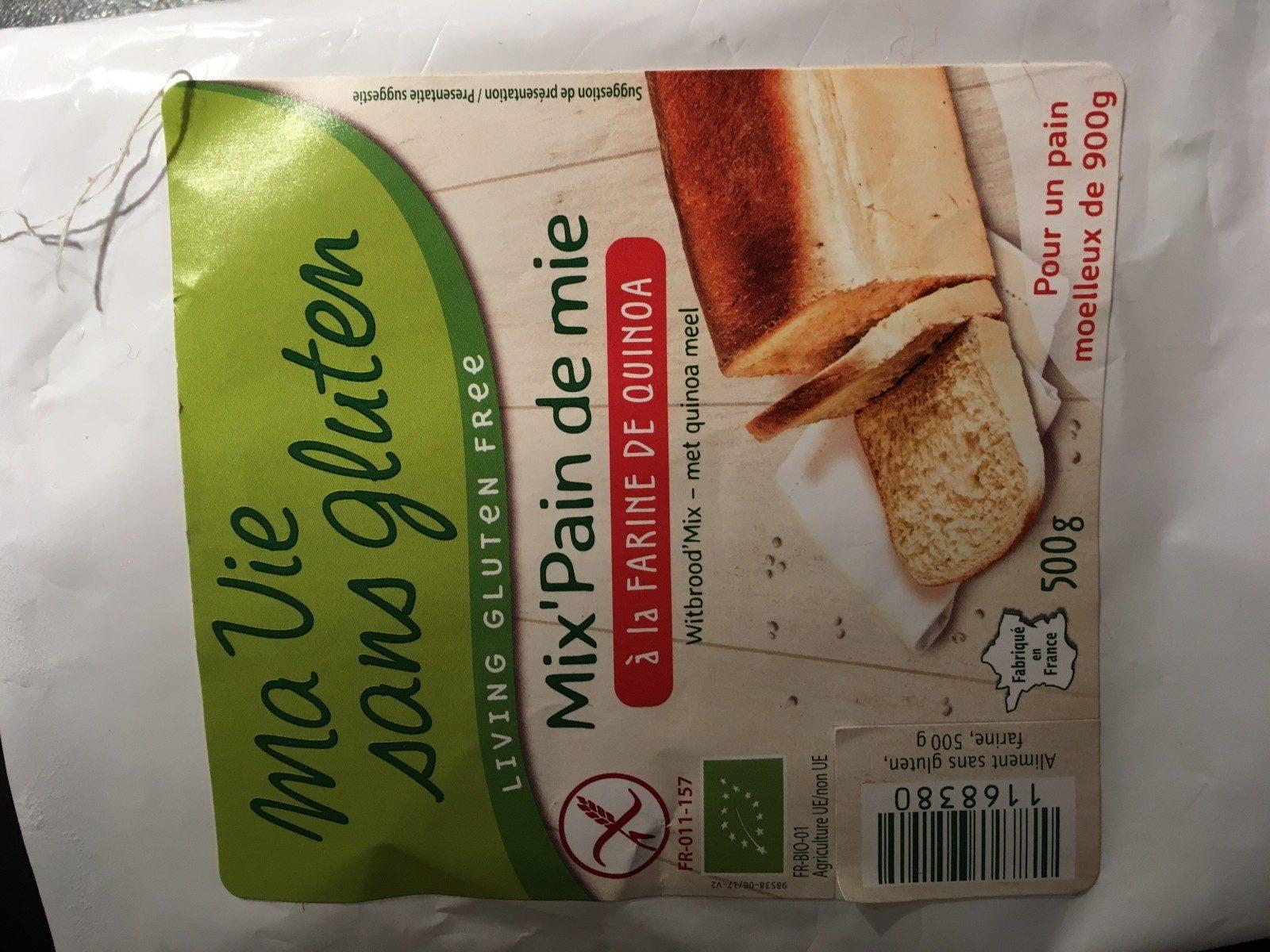 Mix pain de mie quinoa - Ingrédients