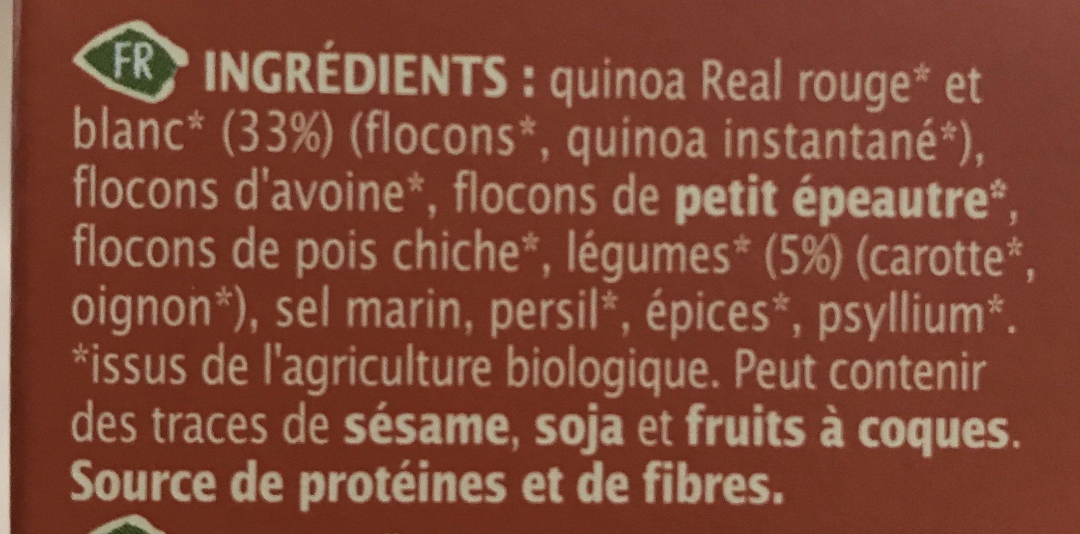 Mix' galette veggie burger - Ingrédients - fr