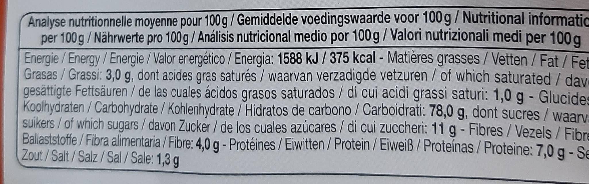 Flakes quinoa - Informations nutritionnelles - fr