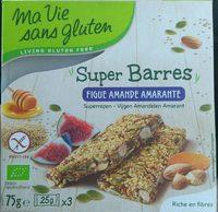 Super Barres - figue amande amarante - Produit