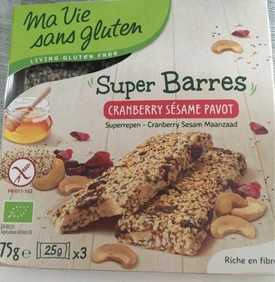 Super barre cranberry sesame pavot - Produit