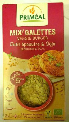 Mix' galettes veggie burger petit épeautre & soja - Product - fr