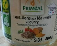 Lentillons aux légumes et curry - Product - fr