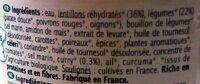 Lentillons aux légumes et curry - Ingrediënten - fr