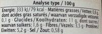 Lentillons aux légumes et curry - Voedingswaarden - fr
