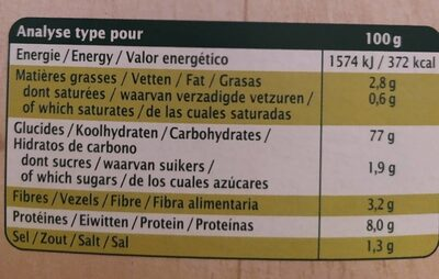 Taboulé à l'orientale - Nutrition facts - fr