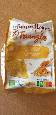 le pain des Fleurs mais kurkuma Triangles - Prodotto - de