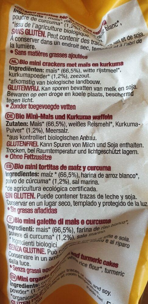 le pain des Fleurs mais kurkuma Triangles - Ingredienti - de