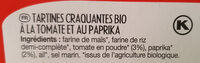 Apéritif Tomate Paprika - Ingredienti - fr