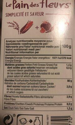 Apéritif Tomate Paprika - Valori nutrizionali - fr