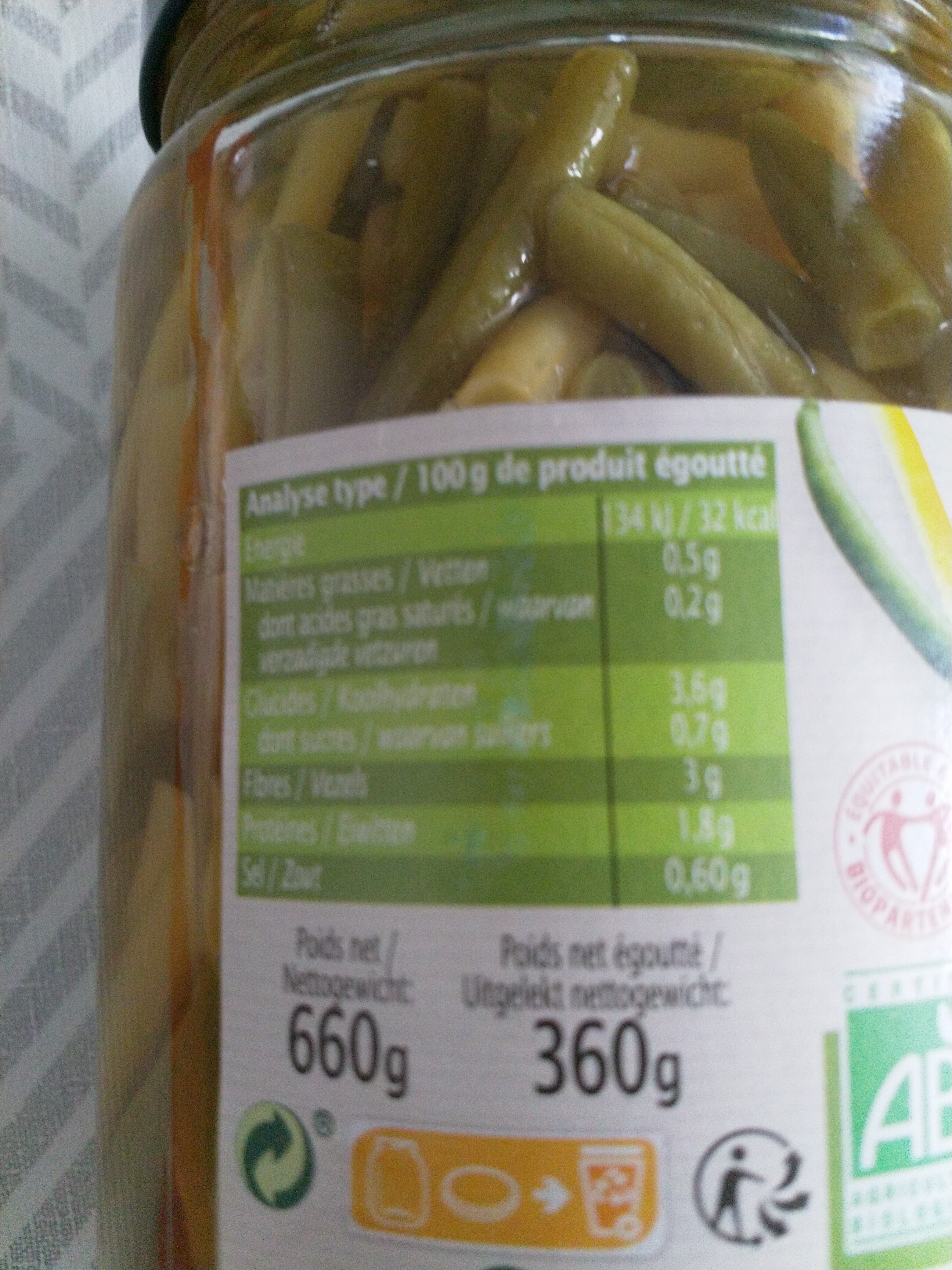Haricots verts et haricots beurre - Ingredienti - fr