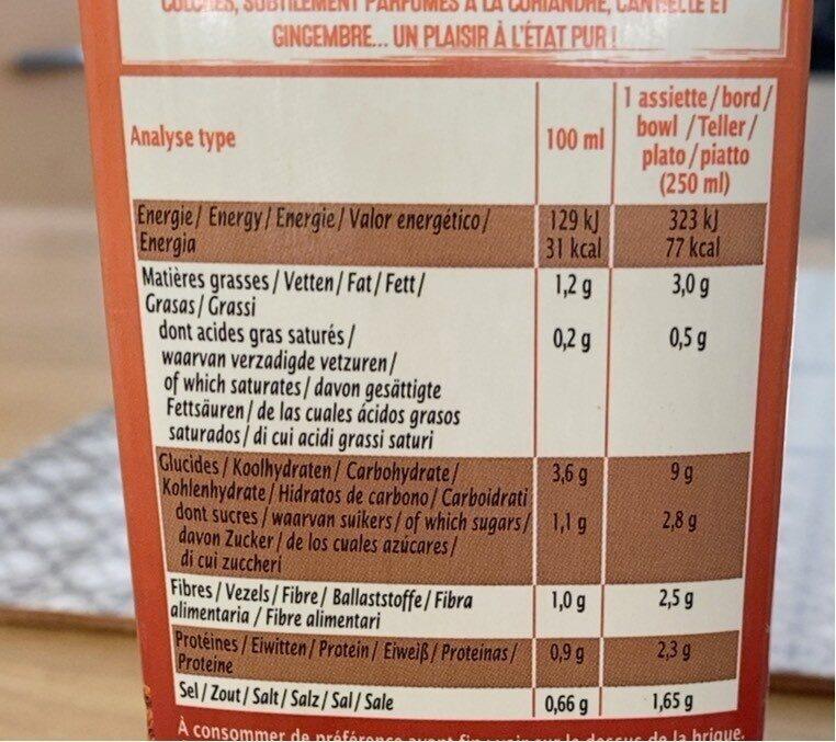 Soupe orientale - Informations nutritionnelles - fr